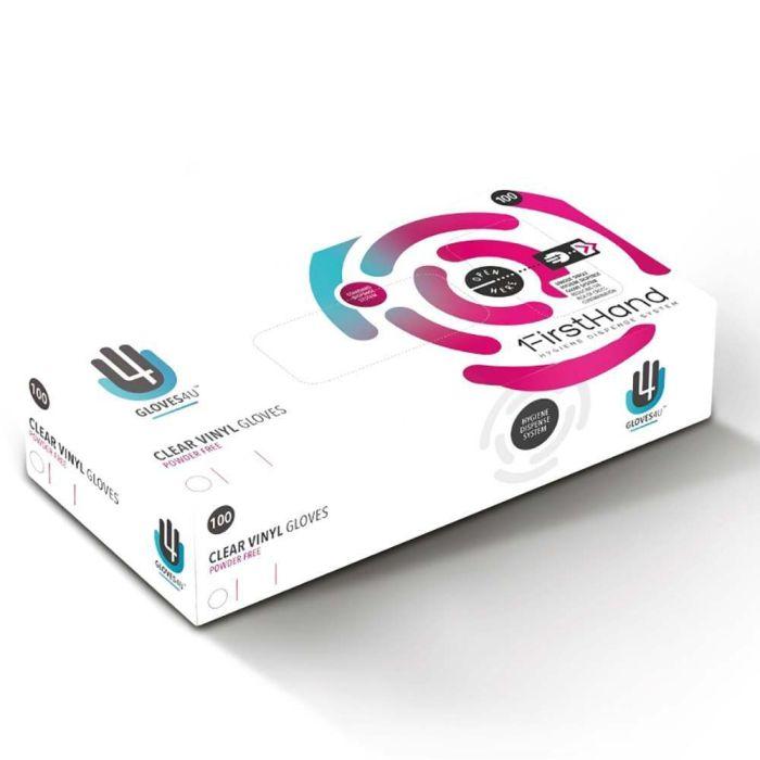 Drylife Clear Vinyl Powder Free Examination Gloves Small 1 Box of 100