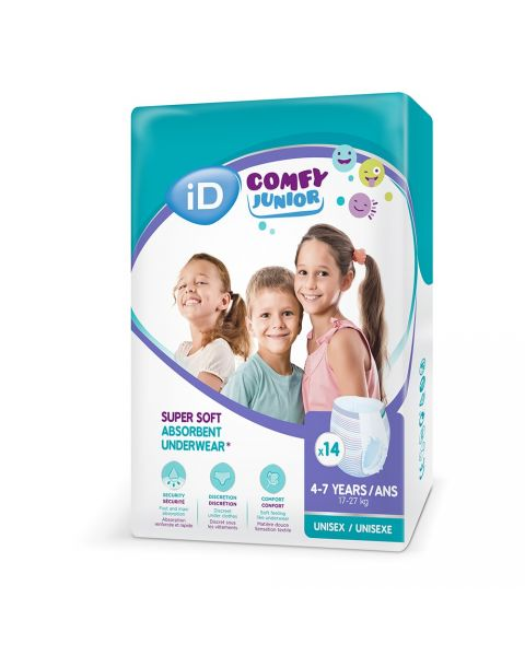iD Comfy Junior Pants (4-7 Years) - Pack of 14