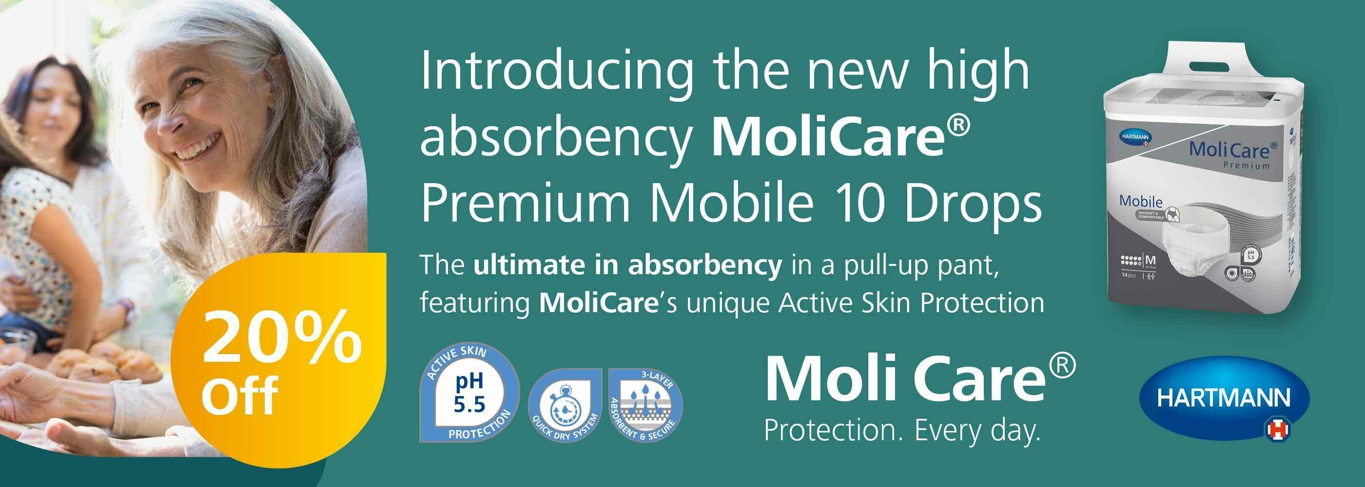 Save 20% on MoliCare!